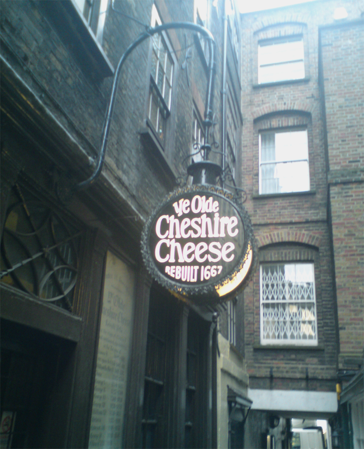 pub sign Ye Olde Cheshire Cheese