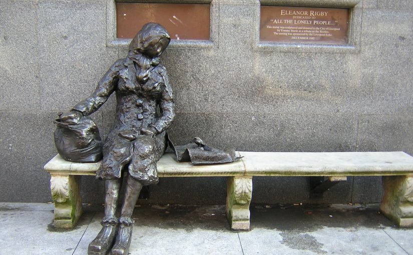 Statue of Eleanor Rigby in Liverpool